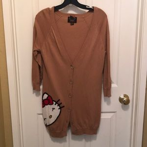 F21 Hello Kitty long sleeve cardigan sweater